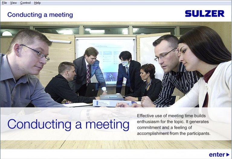 Conducting a meeting Sulzer