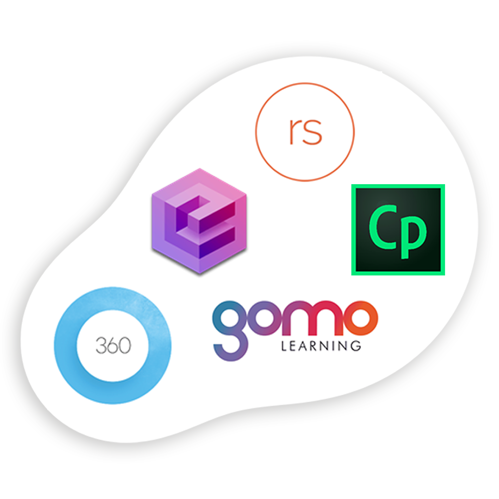 Logos of top 5 authoring tools
