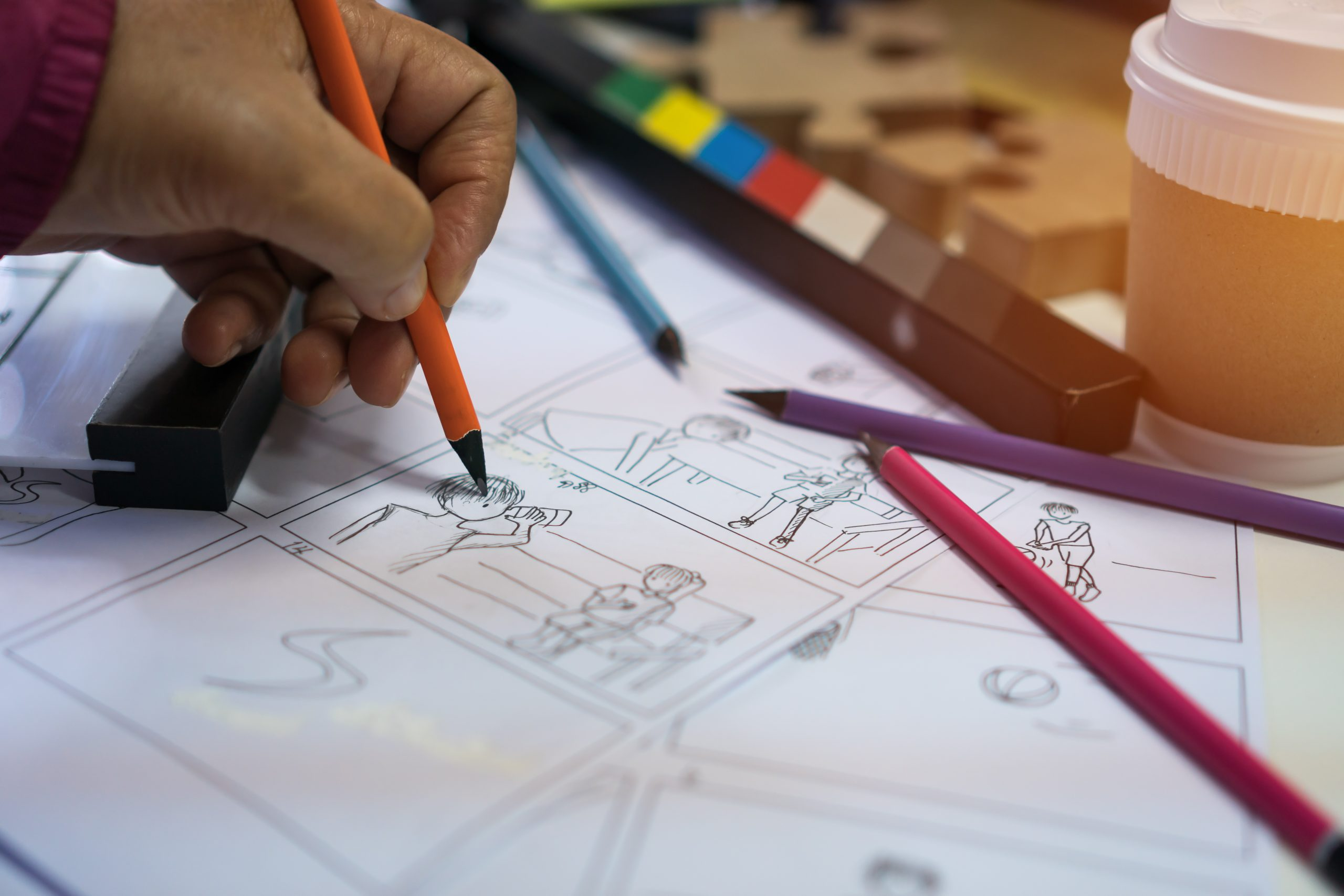 Storyboarding digital learning solutions